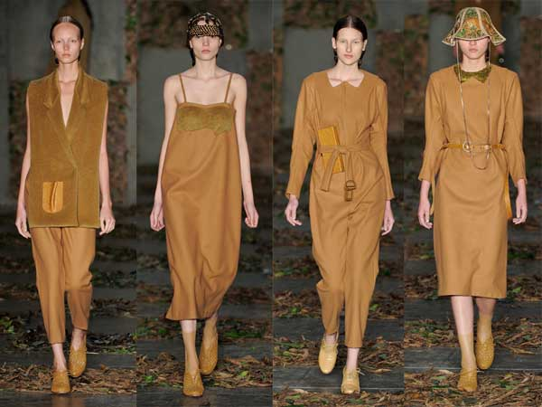 coleção outono inverno da aria Bonita para a São Paulo Fashion Week 2012